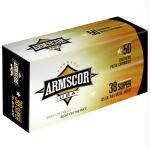 Armscor 38super 125gr Fmj 50/1000