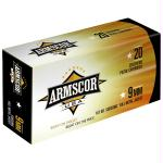 Armscor 9mm 147gr Fmj 50/1000